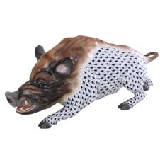 Herend Porcelain Fishnet Figurine of a Wildboar